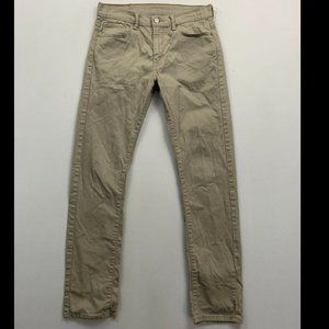 Levi's 513 Men's Beige Slim Straight Leg Jeans